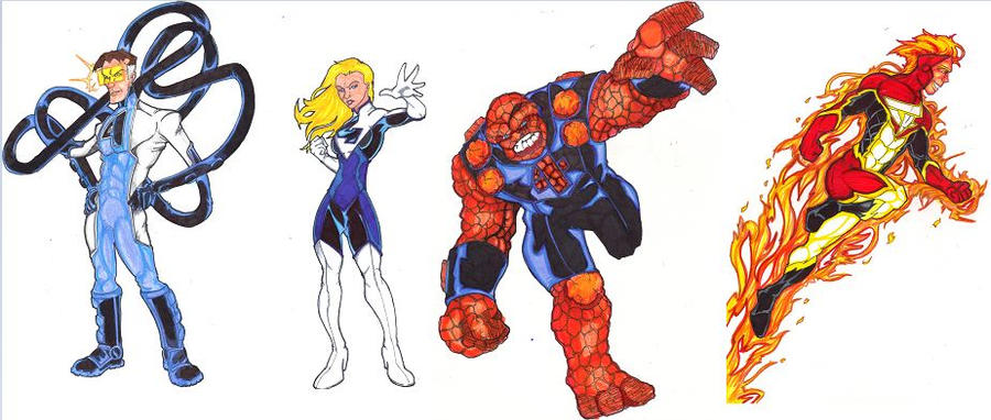 Fantastic 4 Cartoon Characters : Fantastic redesign the four by frischdvh on