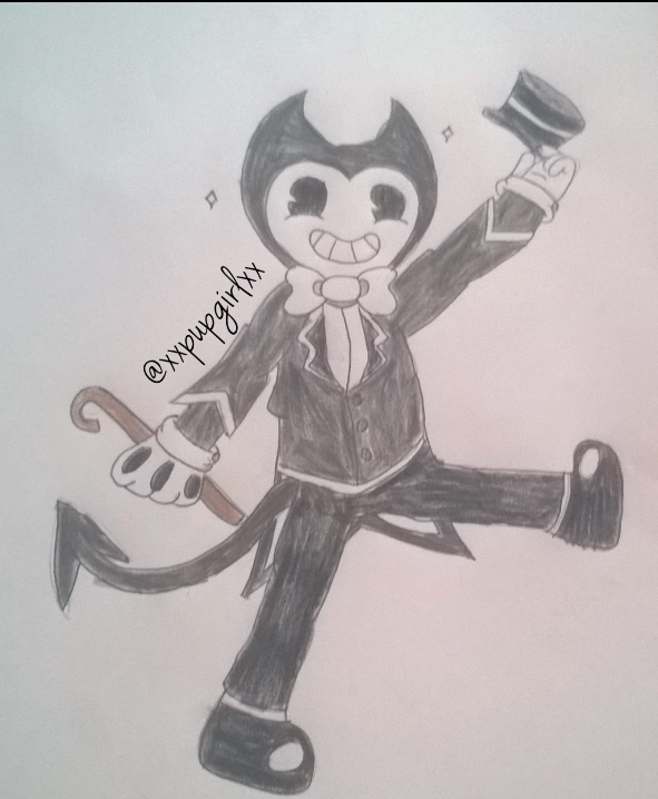 how to draw bendy ink demon