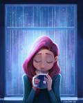 The sound of rain