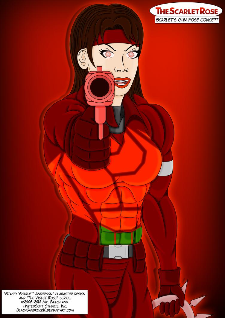 Scarlet's Gun Pose Concept by BlackSandrock10