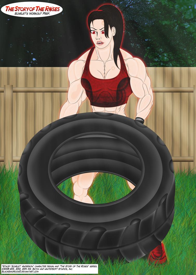 Scarlet's Workout Preparation - No.3 by BlackSandrock10