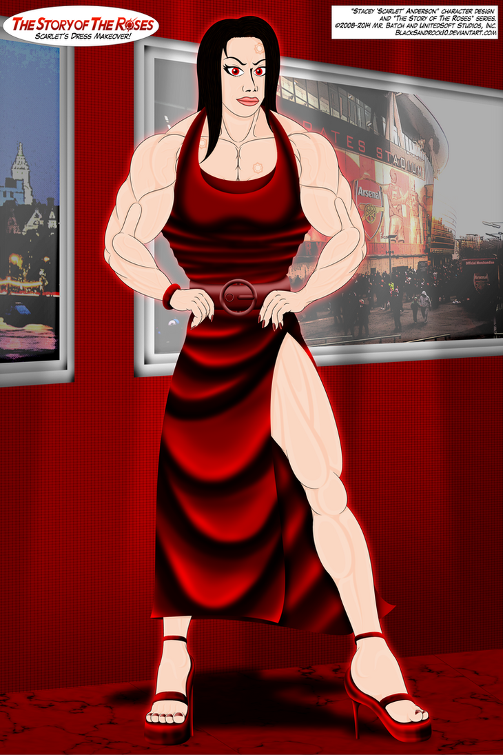 Scarlet's Dress Makeover (Full Body No.3) by BlackSandrock10