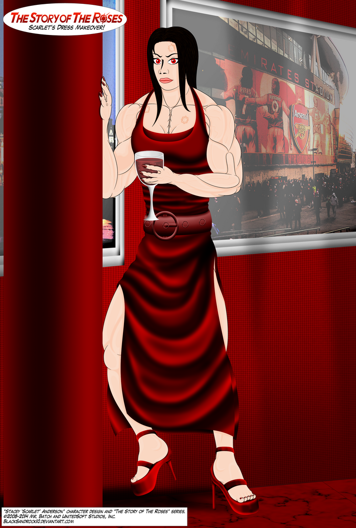 Scarlet's Dress Makeover (Full Body No.5) by BlackSandrock10