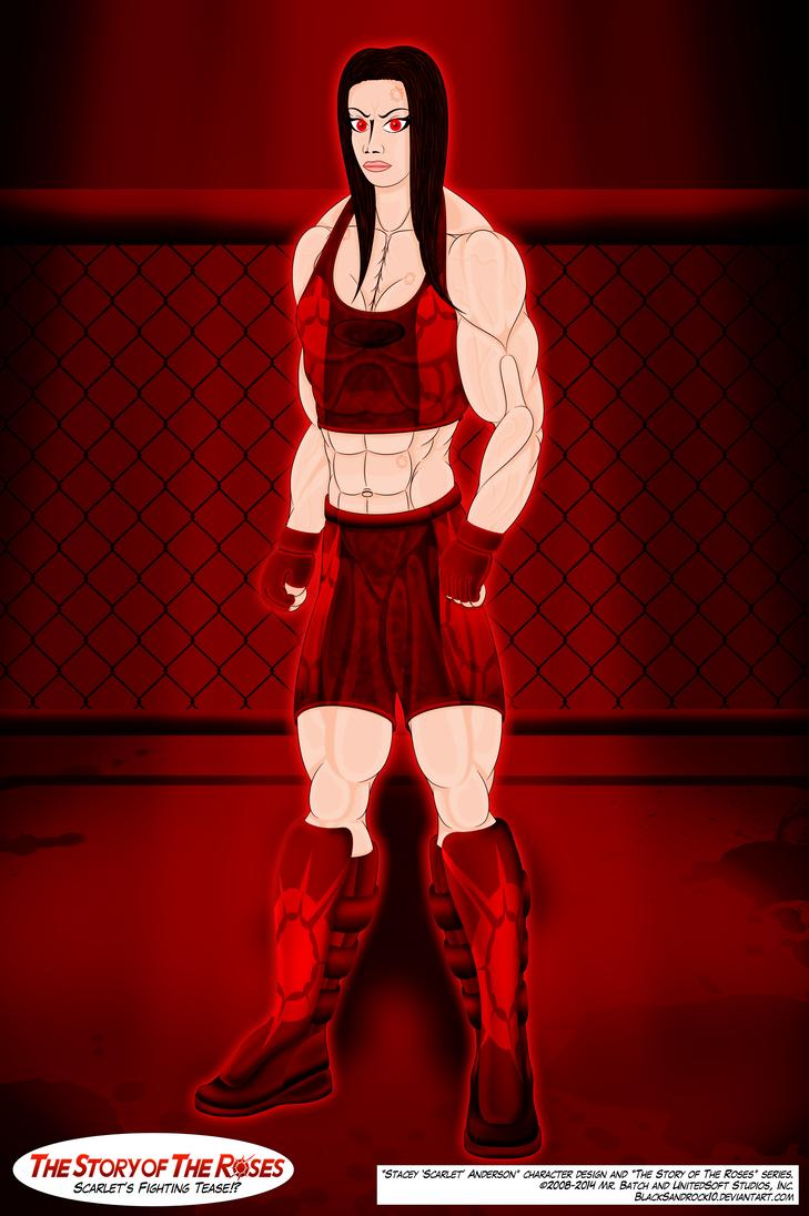 Scarlet's Fighting Tease!? by BlackSandrock10