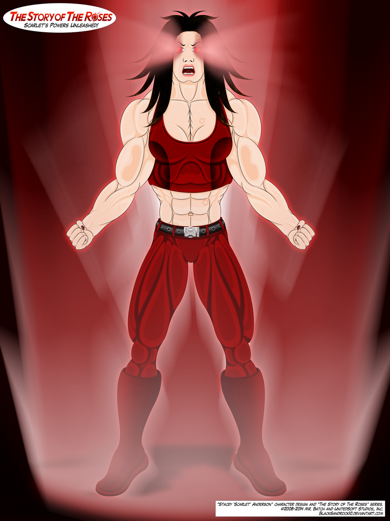 Scarlet's Powers Unleashed by BlackSandrock10