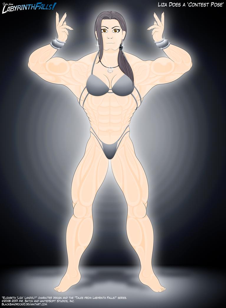 Lisa Does A 'Contest Pose' (Alt. Version) by BlackSandrock10