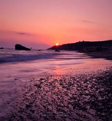 Sunset On the Rocks by pkritiotis