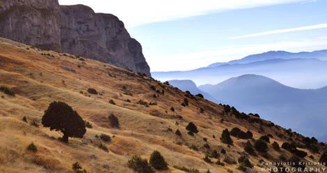 Tymfi Mountain by pkritiotis