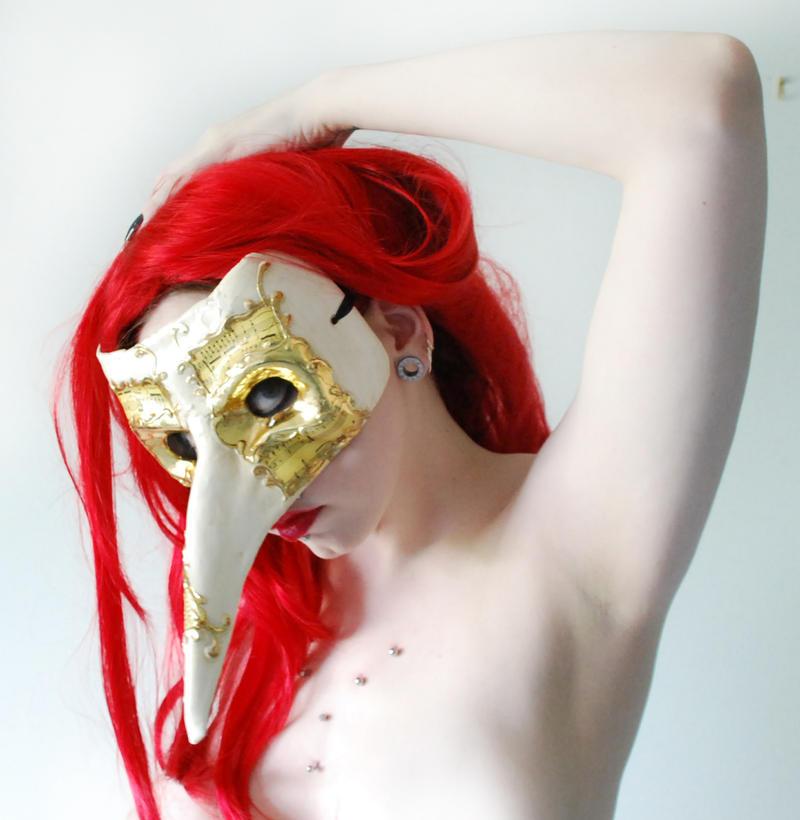 . venetian masque side . by Grotesque-Stock
