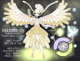Pokemon Fusion! Pheromo-oh, Pheromosa + Ho-oh by OzoneFruit