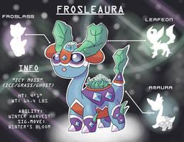 Pokemon Fusion! Amaura, Froslass, and Leafeon! by OzoneFruit