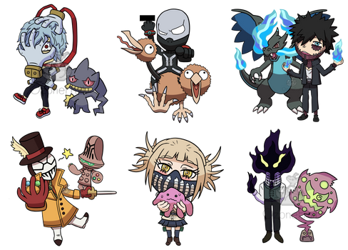 My Hero Academia! Pokemon Set 2! Villains!