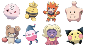 Beta Baby Pokemon Set 1 by OzoneFruit