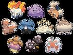 Beta Baby Pokemon Set 2 by OzoneFruit