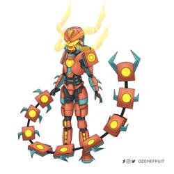 Centiskorch Armor Shiny Variant