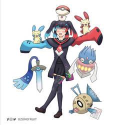 Nintendo Switch-chan Pokemon Team