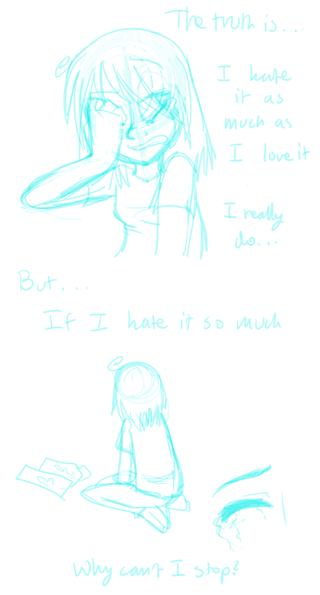 I have emotional conflicts by *MishaChanX on deviantART