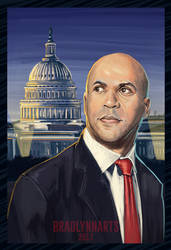 Cory Booker and the US Capitol by 3randon9othizm