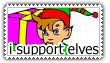 I Support Elves Stamp by adigity