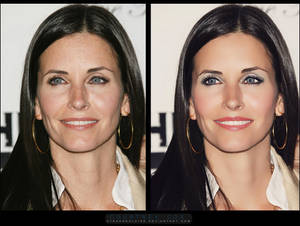 Retouch: Courtney Cox