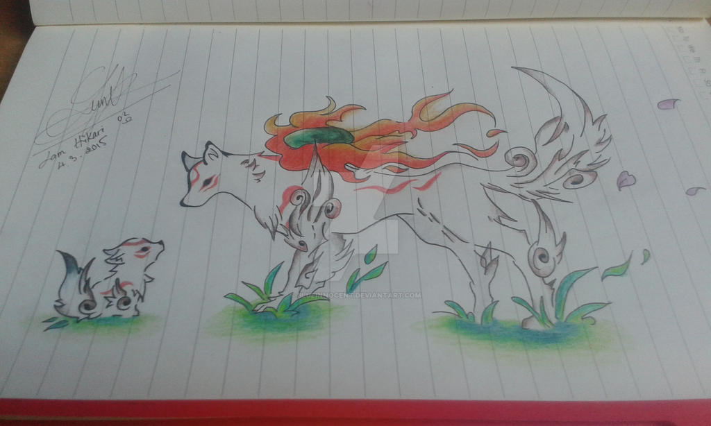 Amaterasu and Chibi cover ~ by BlueInnocent