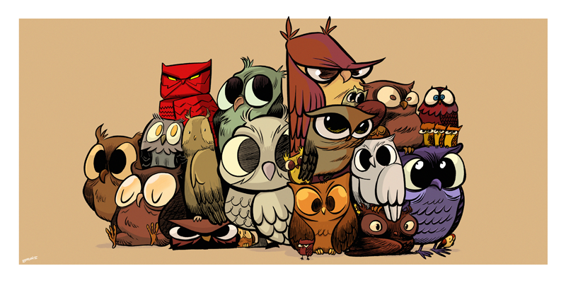 Owltober 14th by sayunclecomics