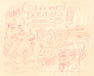 Dinner Doodle by sayunclecomics