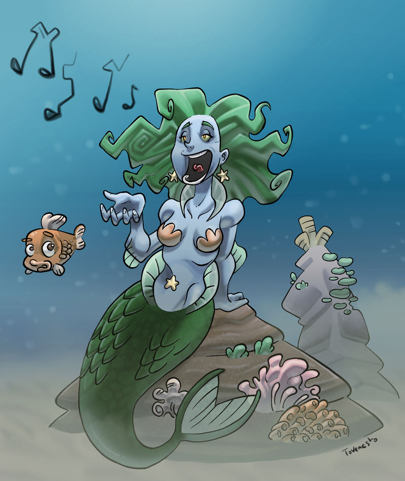 Mermaid singer by Tovenesto