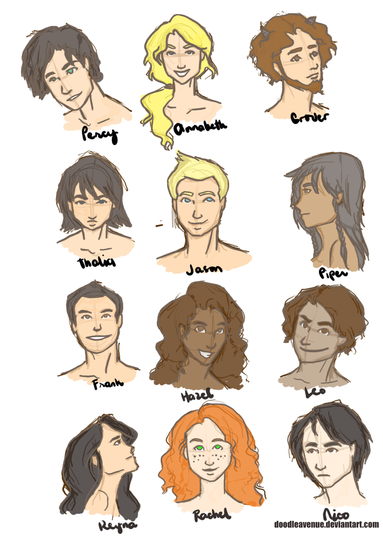 Heroes of Olympus by doodleavenue on DeviantArt