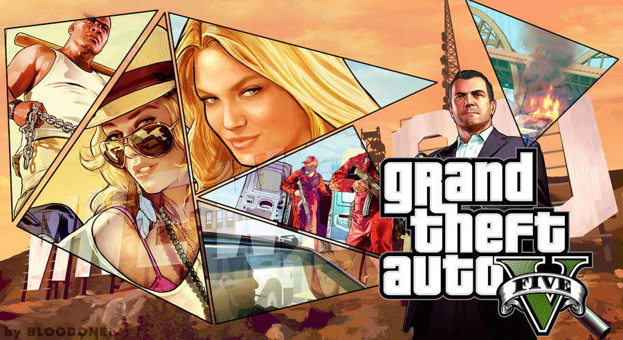 Grand Theft Auto V Wallpaper FanmadeHD 1980x1080 By ChiefBloodone