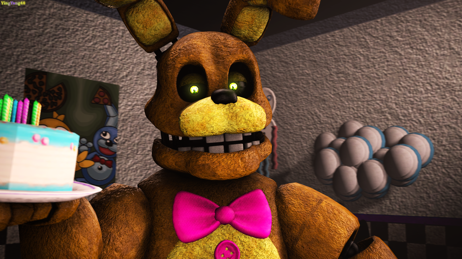 Are you the birthday kid springbonnie new model by yingyang48 on
