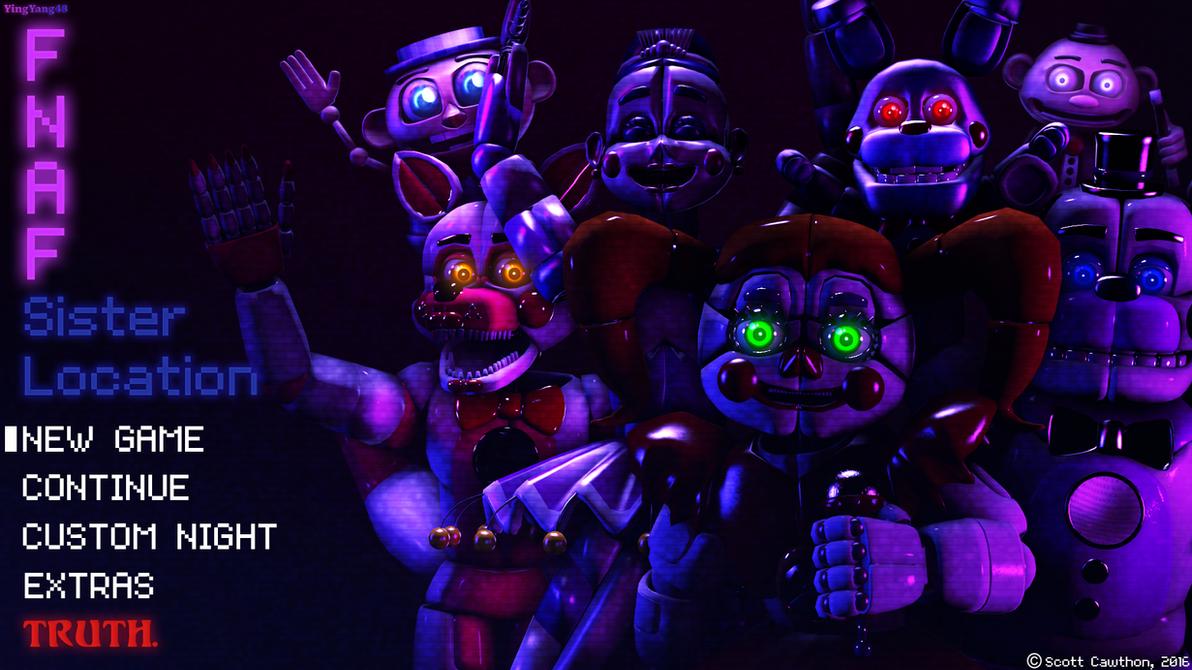 Fnaf title screen