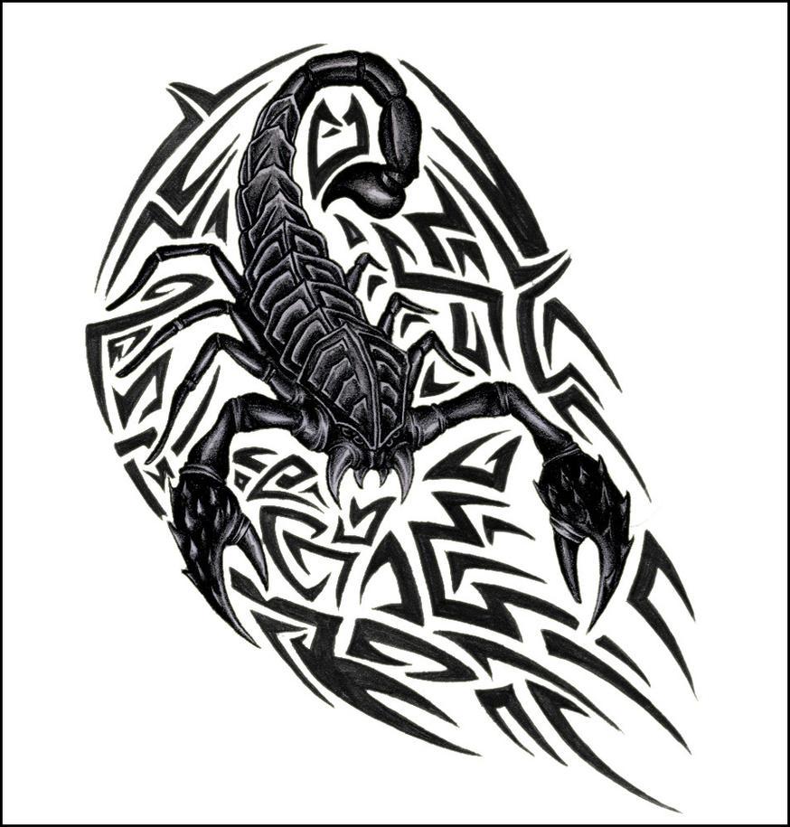 18 Stunning Tribal Scorpion Tattoo: Scorpion With Tribal By JonasOlsenWoodcraft On DeviantArt