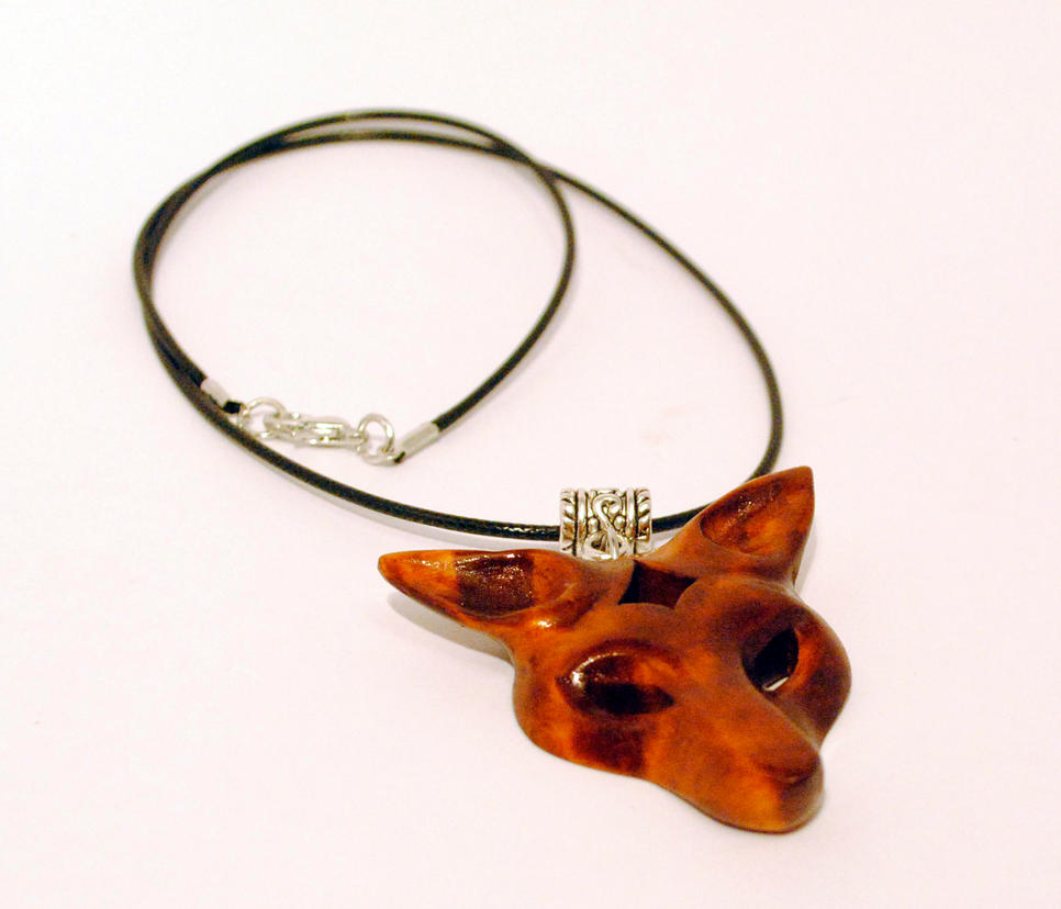 Handmade wolf head pendant by JOVictory