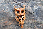 Wooden owl pendant (Updated version)