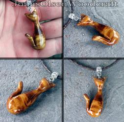 Custom made cat pendant