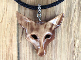 Fox pendant made out of beautiful local birch by JonasOlsenWoodcraft