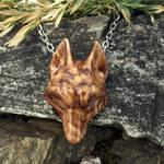 Wooden husky pendant