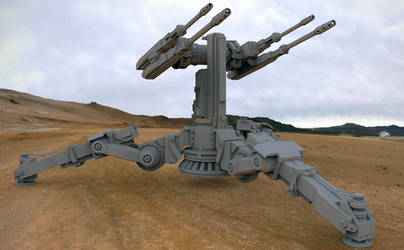 Military Turret Concept WIP by dkounios