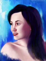 Female portrait by dkounios