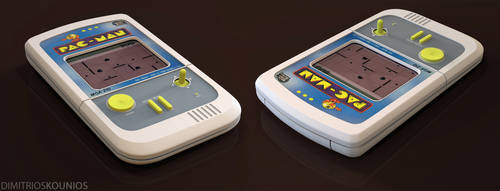 3D Classic Vintage Pacman handheld game by dkounios