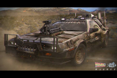 Back to the Future DeLorean redesign by dkounios