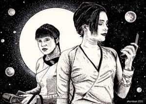 Two spacewomen