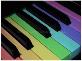 Music Colors My World by RestlessWolfSpirit