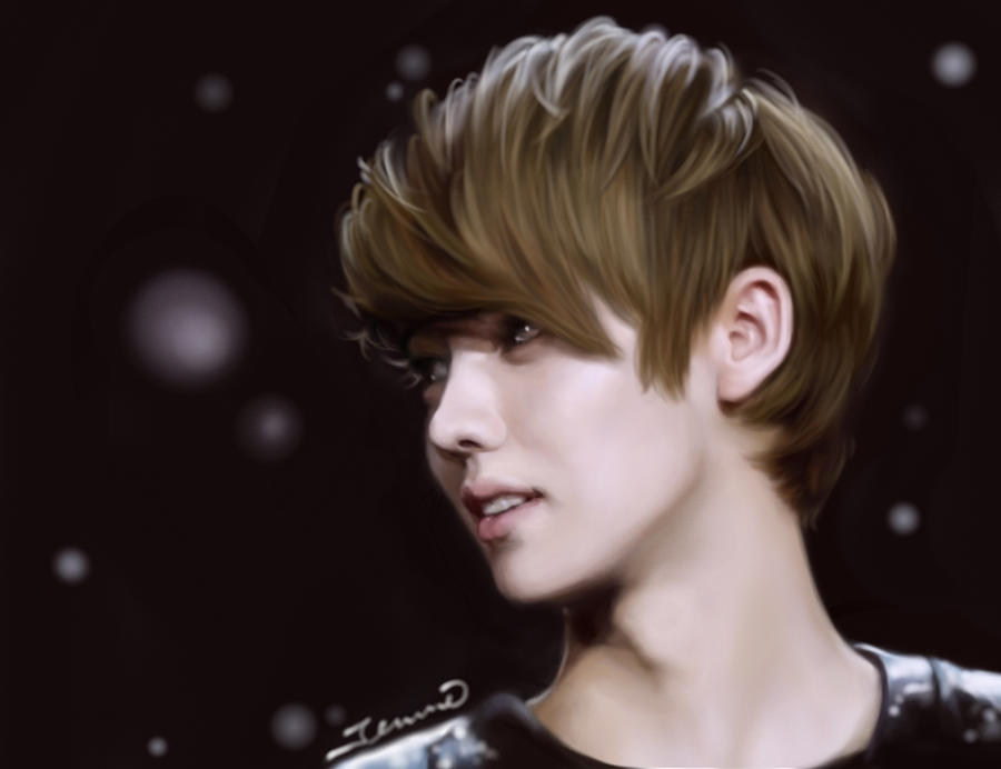 Exo Luhan digital painting by jennieyu