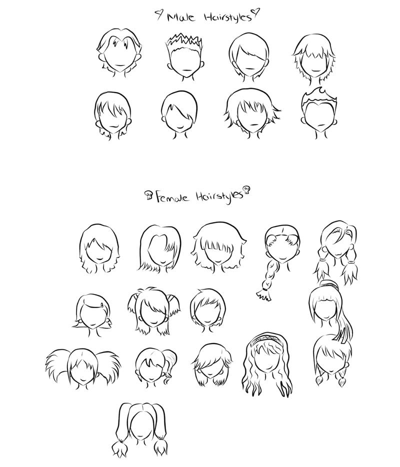 Manga Hairstyles By Faymara On Deviantart