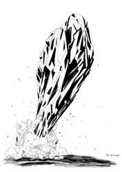 8. ROCK (inktober) by CrippledPaperCrane