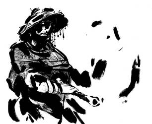 Travelling Swordsman by CrippledPaperCrane