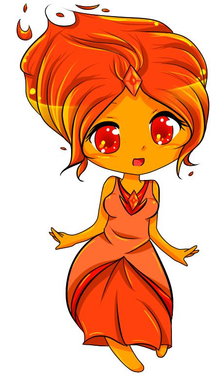Flame Princess Chibi by mandaangel96 on DeviantArt