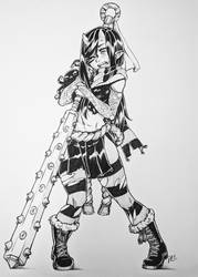 Inktober 2018 Day 17- Oni Aria by RocatArt